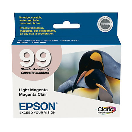 Epson 99, (T099620-S) Claria Hi-Definition Light Magenta Ink Cartridge