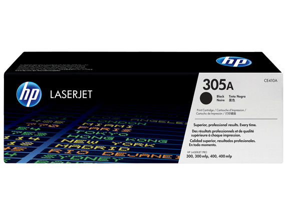 HP 305A Black Original Toner Cartridge (CE410A)