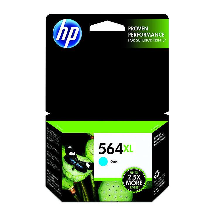 HP 564XL, Cyan Original Ink Cartridge (CB323WN)