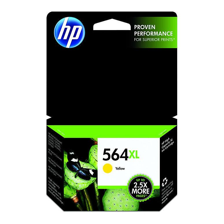 HP 564XL, Yellow Original Ink Cartridge (CB325WN)