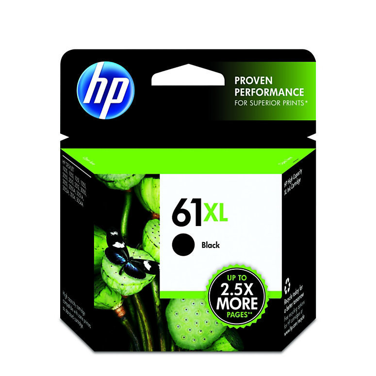 HP 61XL, Black Original Ink Cartridge (CH563WN)