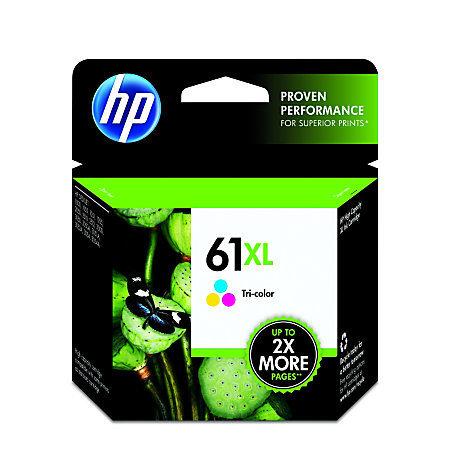 HP 61XL, Tricolor Original Ink Cartridge (CH564WN)