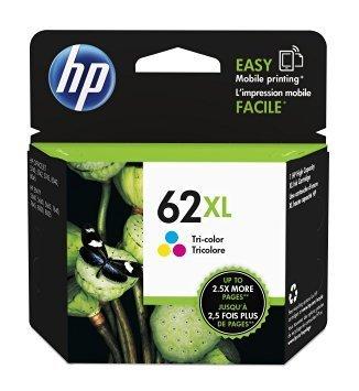 HP 62XL High-Yield Tri-Color Ink Cartridge (C2P07AN#140)