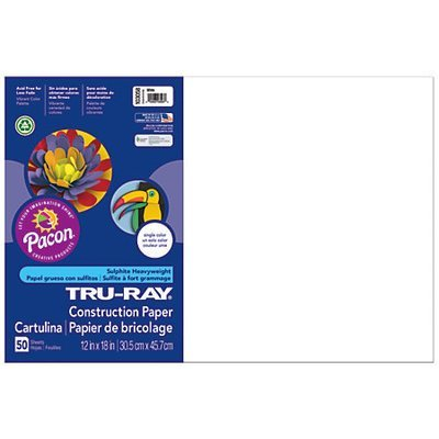 Tru-Ray 50% Recycled Construction Paper, 12