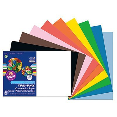 Tru-Ray 50% Recycled Assorted Color Construction Paper, 12