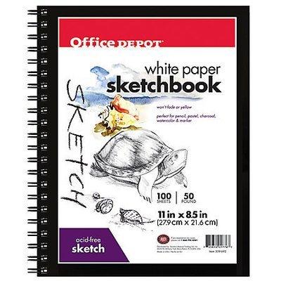 Office Depot Brand Sketchbook, 8 1/2