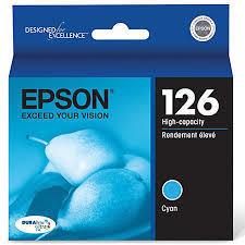 Epson® 126, (T126220) DuraBrite® Ultra High-Capacity Cyan Ink Cartridge
