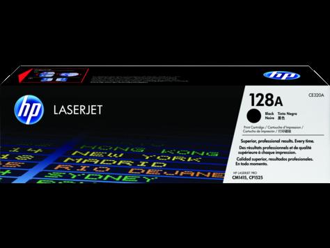 HP 128A, Black Original Toner Cartridge (CE320A)