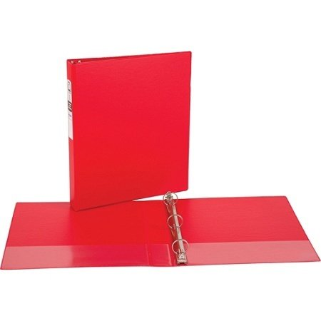 """Office Depot® Brand Durable View Round-Ring Binder, 1"""" Rings, 61% Recycled, Red"""