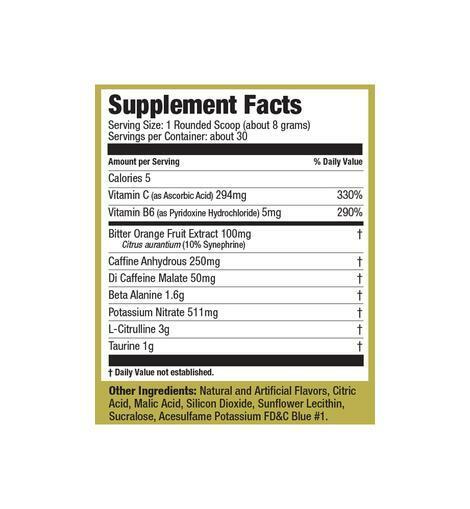Ultimate Nutrition Pre Gold Preworkout Powder 250g