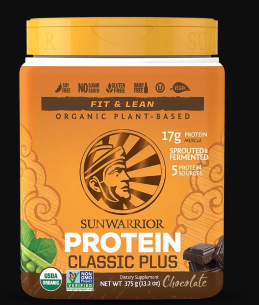 SunWarrior Organic Classic Plus Protein 375g 10086(base)
