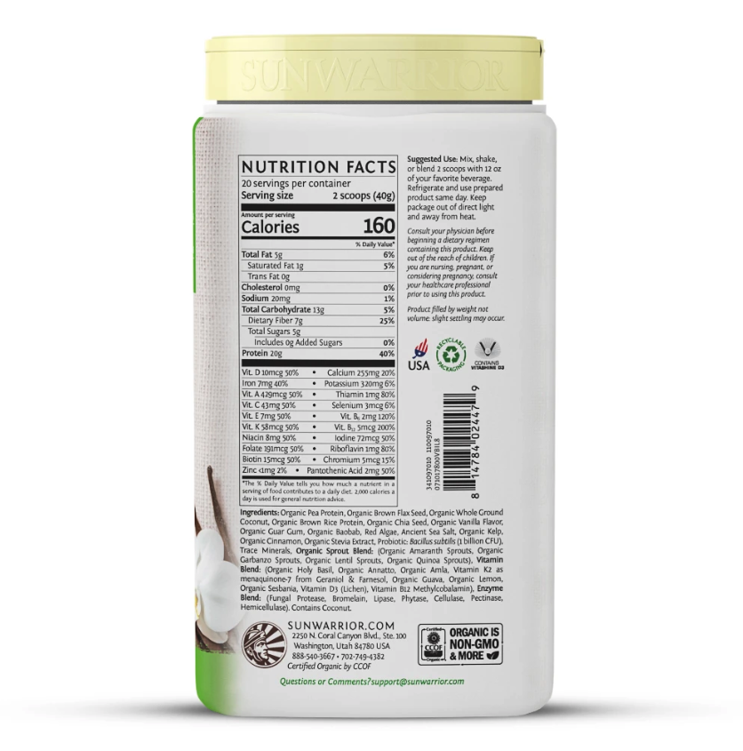 Sunwarrior Illumin8 Meal Replacement - 20 Servings