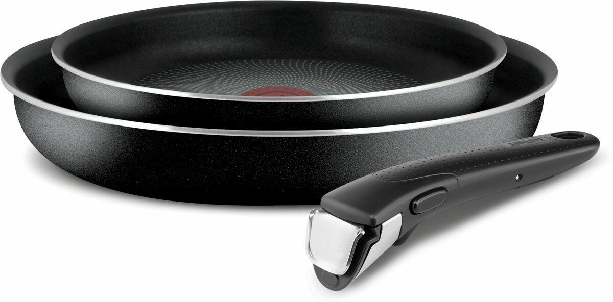 Russian Tefal Black Cookware Set, 3 Pieces