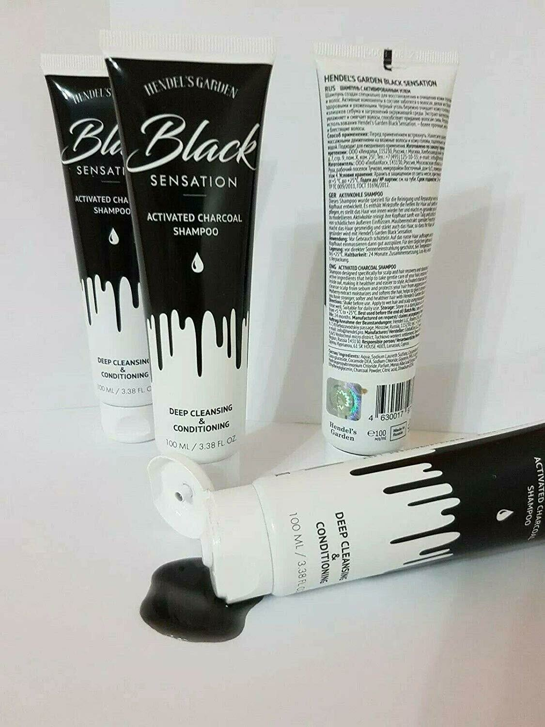 Black Sensation - Activated Charcoal Shampoo for Oily Hair