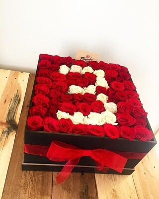 Gaia - Caja de Rosas con numero