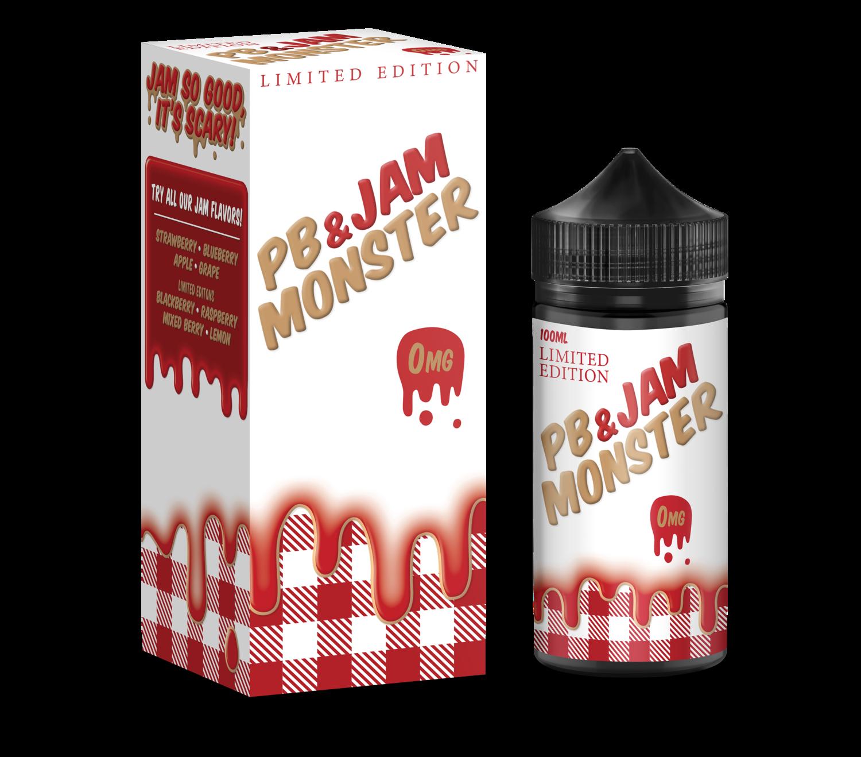 JAM MONSTER PB & JAM: STRAWBERRY 100ML