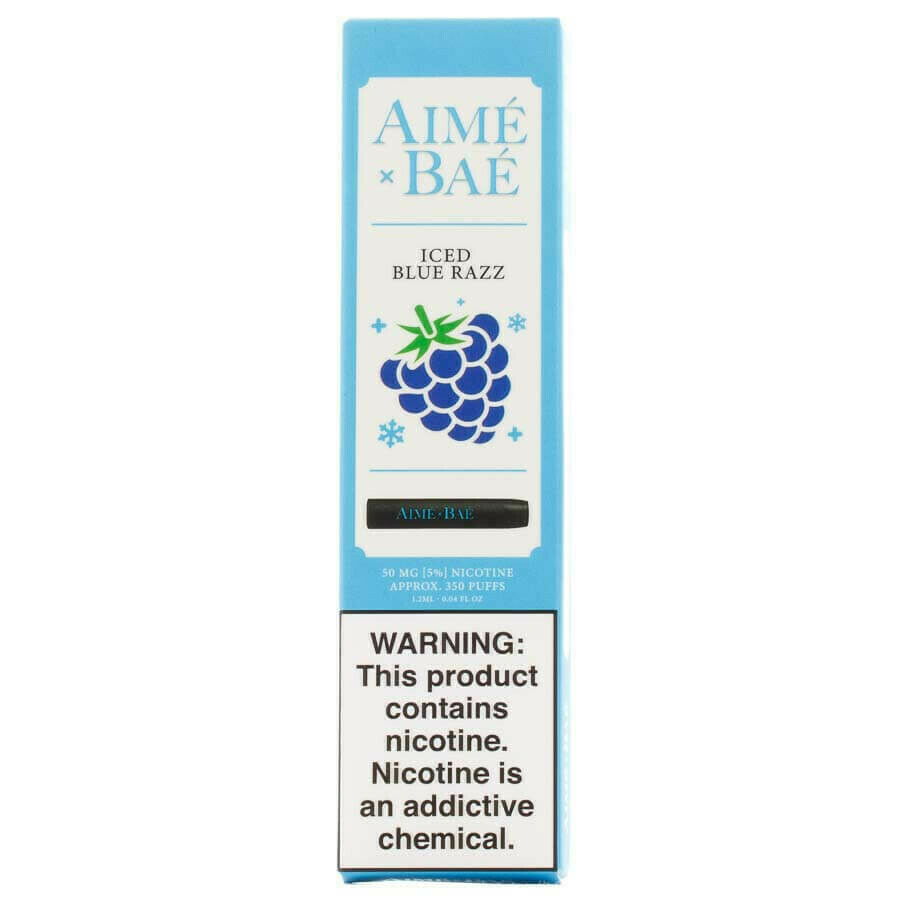 AIME X BAE DISPOSABLE POD: ICED BLUE RAZZ
