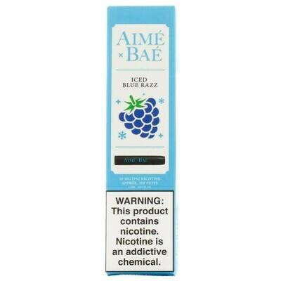 AIME X BAE DISPOSABLE POD: ICED BLUE RAZZ