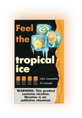 FEEL THE FLAVOR: TROPICAL ICE СМЕННЫЕ КАРТРИДЖИ ДЛЯ JUUL 2 ШТ