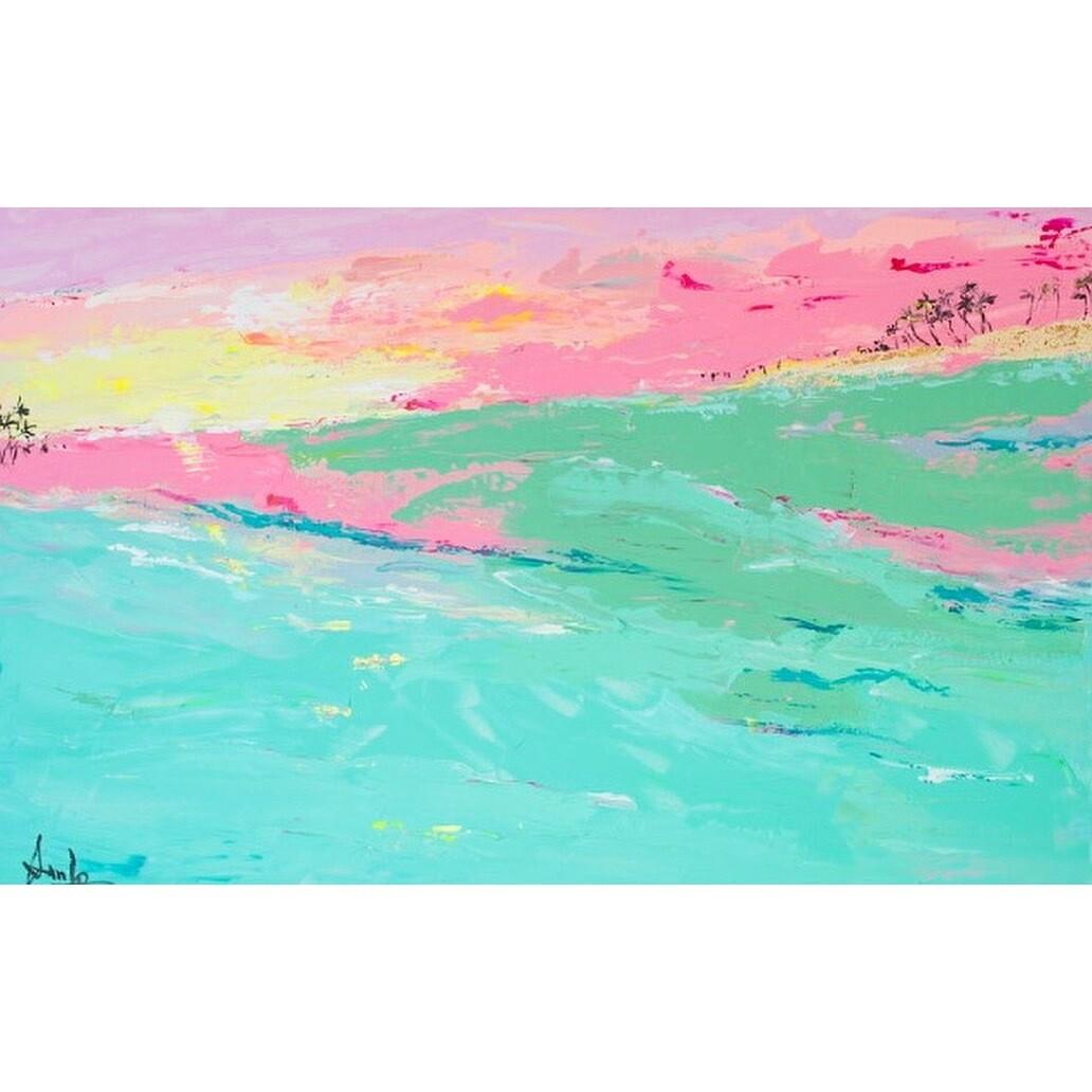 "PARADIS TURQUOISE ( 48"" X 30"")*VENDUE*Sold*"