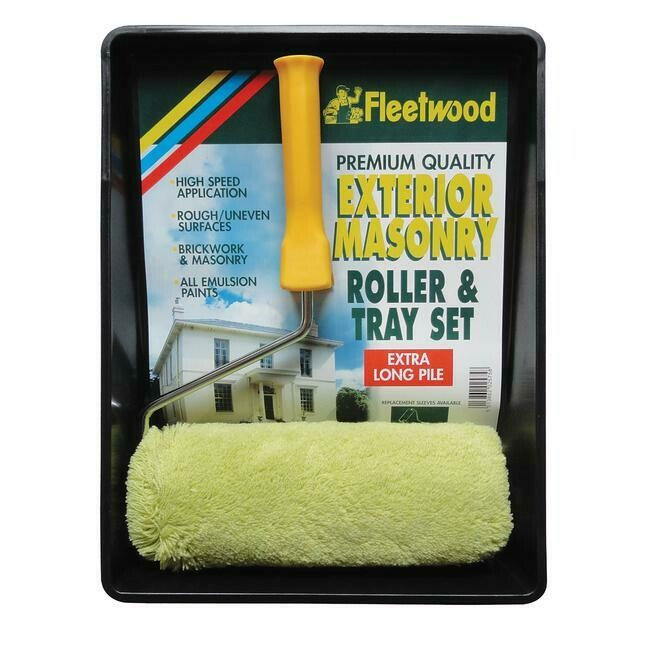 Fleetwood Exterior Masonry 9in Paint Roller & Tray