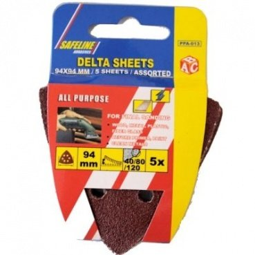 Delta Sanding Sheets Pack Of 5