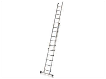 Double Extension Ladder with Stabiliser Bar 2-Part D-Rungs 2 x 8