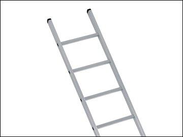 Industrial Single Aluminium Ladder 2.21m 7 Rungs