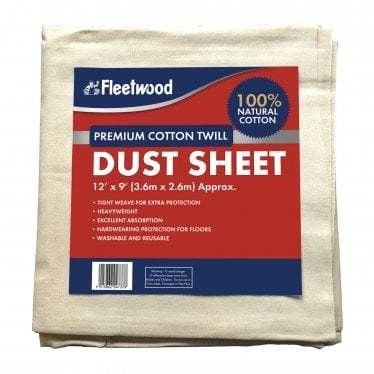 Fleetwood Premium Dust Sheet - 12 x 9