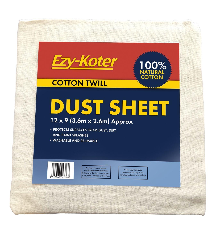 "(EZYKOTER) COTTON DUST SHEET T 12X9"""
