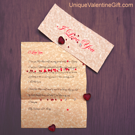 Valentine's Day - I Love You Letter