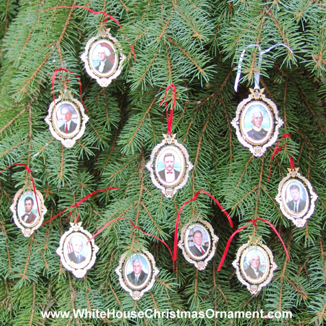Ornaments - Mount Vernon American Presidents Collection - Set of Ten Ornaments
