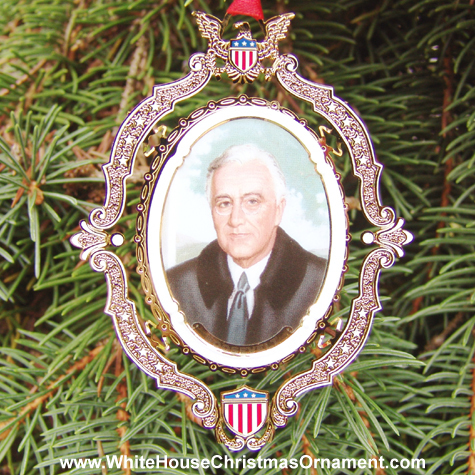 Ornaments - Mount Vernon American Presidents - Franklin D Roosevelt