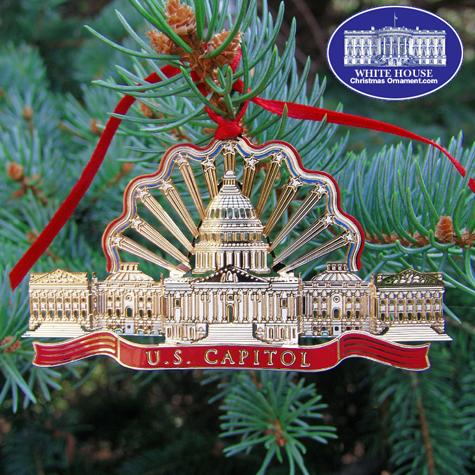 Ornaments - US Capitol Gold Finish