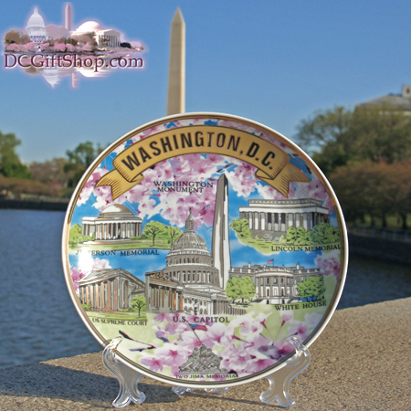 Gifts - Plate - Washington DC Souvenir Cherry Blossom