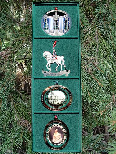 1990 - 1993 Set of Four White House Ornaments