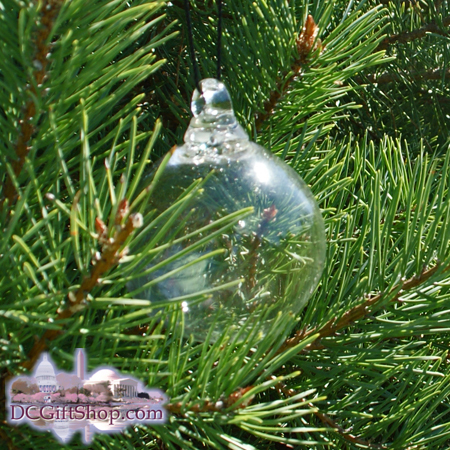 "Ornaments - Glass - Clear Crystal 3"" Ball"