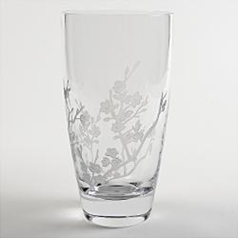 Gifts - Cherry Blossom Etched Crystal Vase