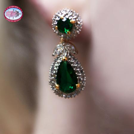Valentine's Day - Jacqueline Kennedy Emerald Earrings