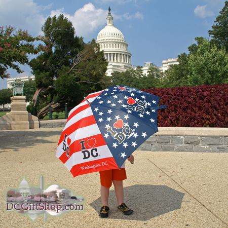 Gifts - Umbrella - Washington DC Patriotic