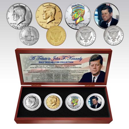 Gifts - Money - JFK Four Half-Dollar Commemorative Coin Set