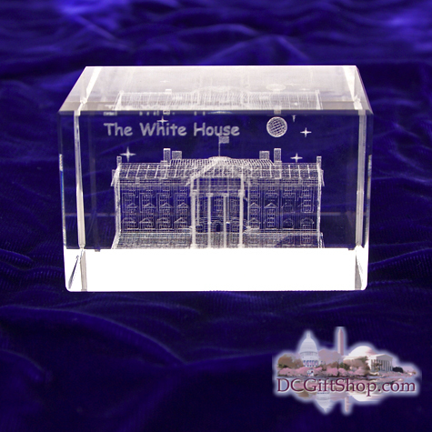 Gifts - Glass Etch - White House