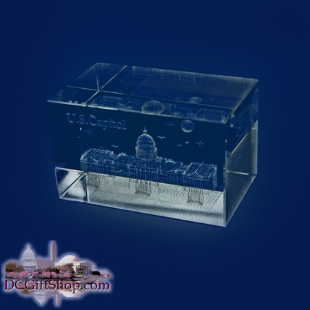 Gifts - Glass Etch - US Capitol