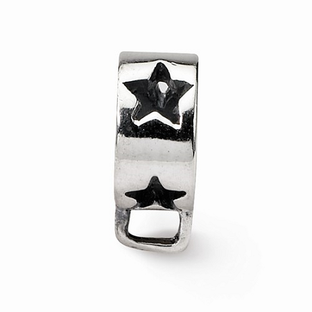 Sterling Silver Reflections Star w/Loop for Click-on Bead