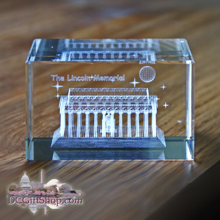 Gifts - Paperweight - Lincoln Memorial 3D Glass