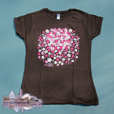 Gifts - Cherry Blossoms - Ladies Fitted Petal Cluster T-Shirt