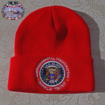 Red Donald Trump Inauguration Winter Knit Hat