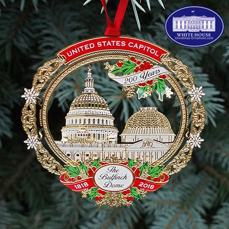 2018 US Capitol Bulfinch Dome Ornament