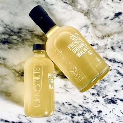 CORKY'S NUTS Cold Pressed Organic Walnut Oil - 8 oz.