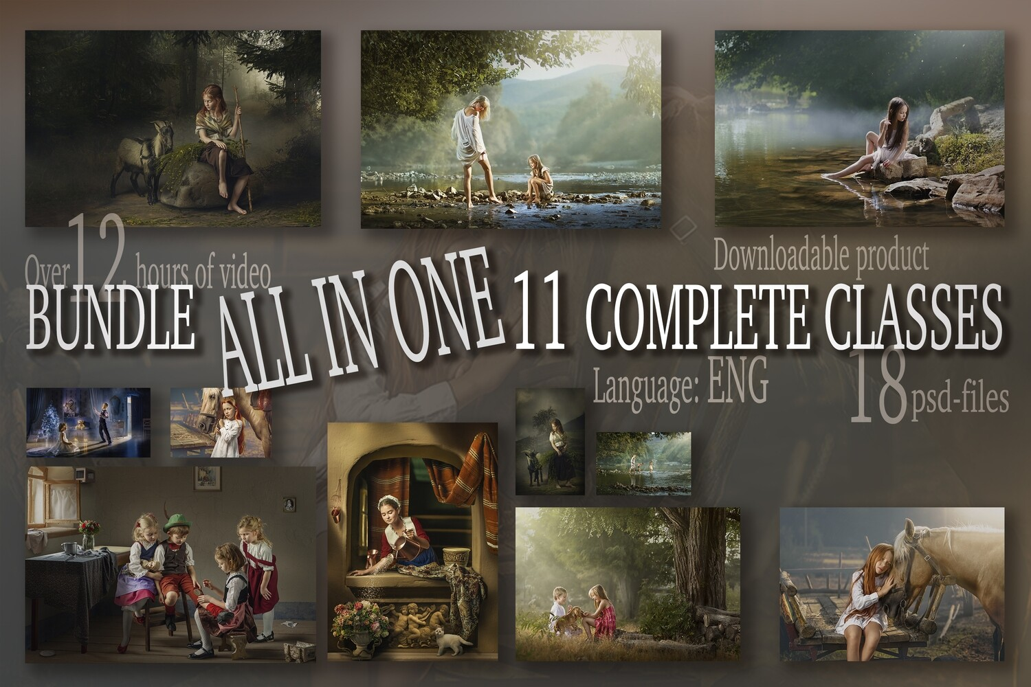 BUNDLE . ALL IN ONE. 11 COMPLETE CLASSES + TEXTURES